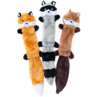 Skinny Peltz Plush Dog Toy - Large Set of 3 - Pets 5th Avenue