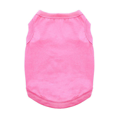 Cotton Dog Tank - Carnation Pink - Pets 5th Avenue