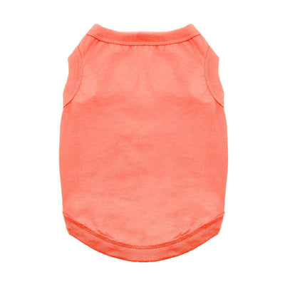Cotton Dog Tank - Coral - Pets 5th Avenue