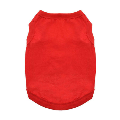 Cotton Dog Tank - Flame Scarlet Red - Pets 5th Avenue