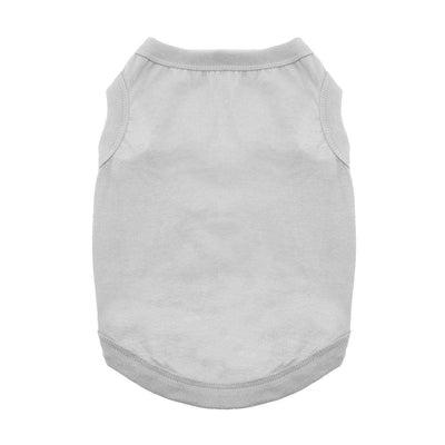 Cotton Dog Tank - Glacier Gray - Pets 5th Avenue