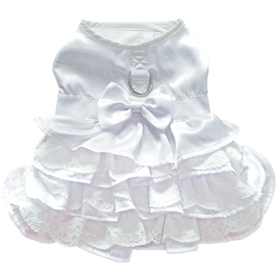 Dog Harness Wedding Dress with Veil and Matching Leash - Pets 5th Avenue