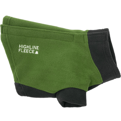 Highline Fleece Dog Coat - Two Tone Green - Pets 5th Avenue