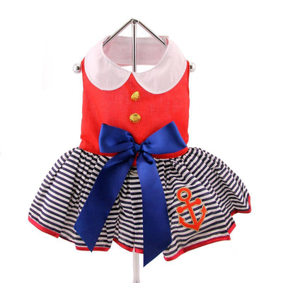 Sailor Girl Dress with Matching Leash - Pets 5th Avenue