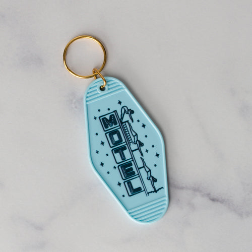 Mesa Hotel Keychain Blue Diving Lady