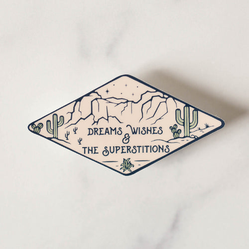 Superstition Mountains Vinyl Sticker Decal Dreams Wishes