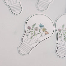 Load image into Gallery viewer, Bright Idea Floral Light Bulb Vinyl Sticker Decal