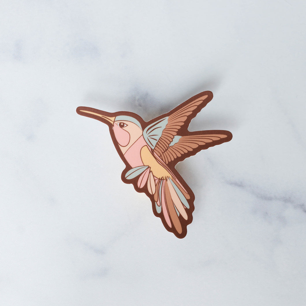 Wild Dream Hummingbird Vinyl Sticker Decal