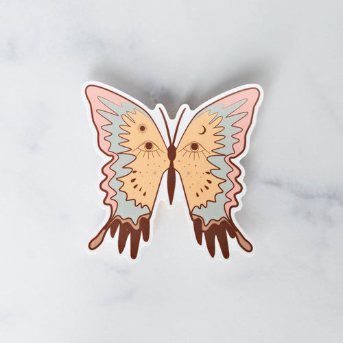 Wild Dream Butterfly Vinyl Sticker Decal