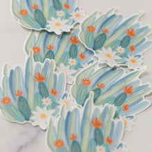 Load image into Gallery viewer, Prickly Pastel Vinyl Decal Sticker Pack Arizona Outline Cactus Green and Blue