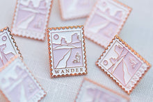 Load image into Gallery viewer, Postage Stamp Desert Wander Enamel Pins