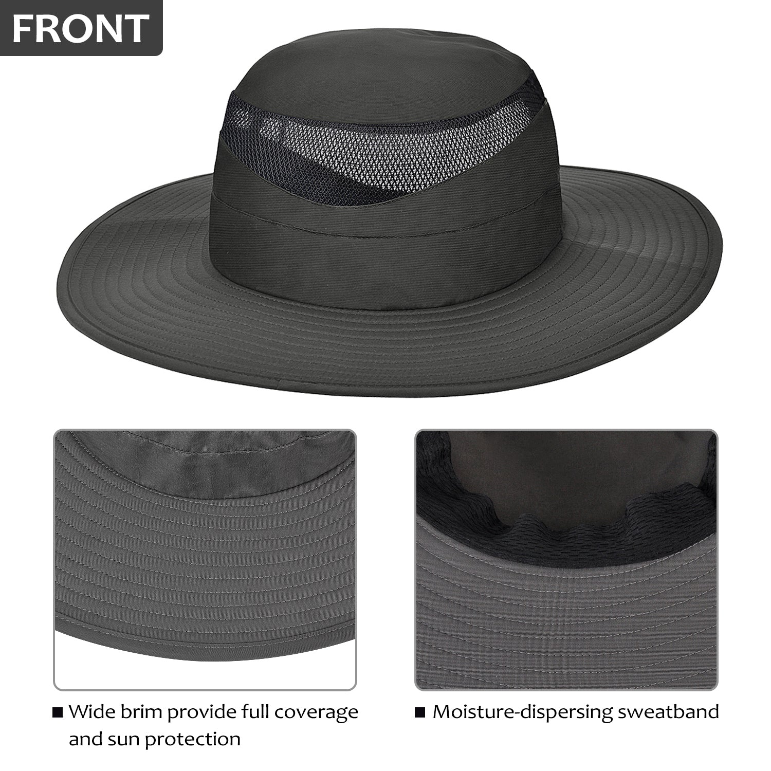 Hat for Men Wide Brim Fishing Hat Boonie Cap