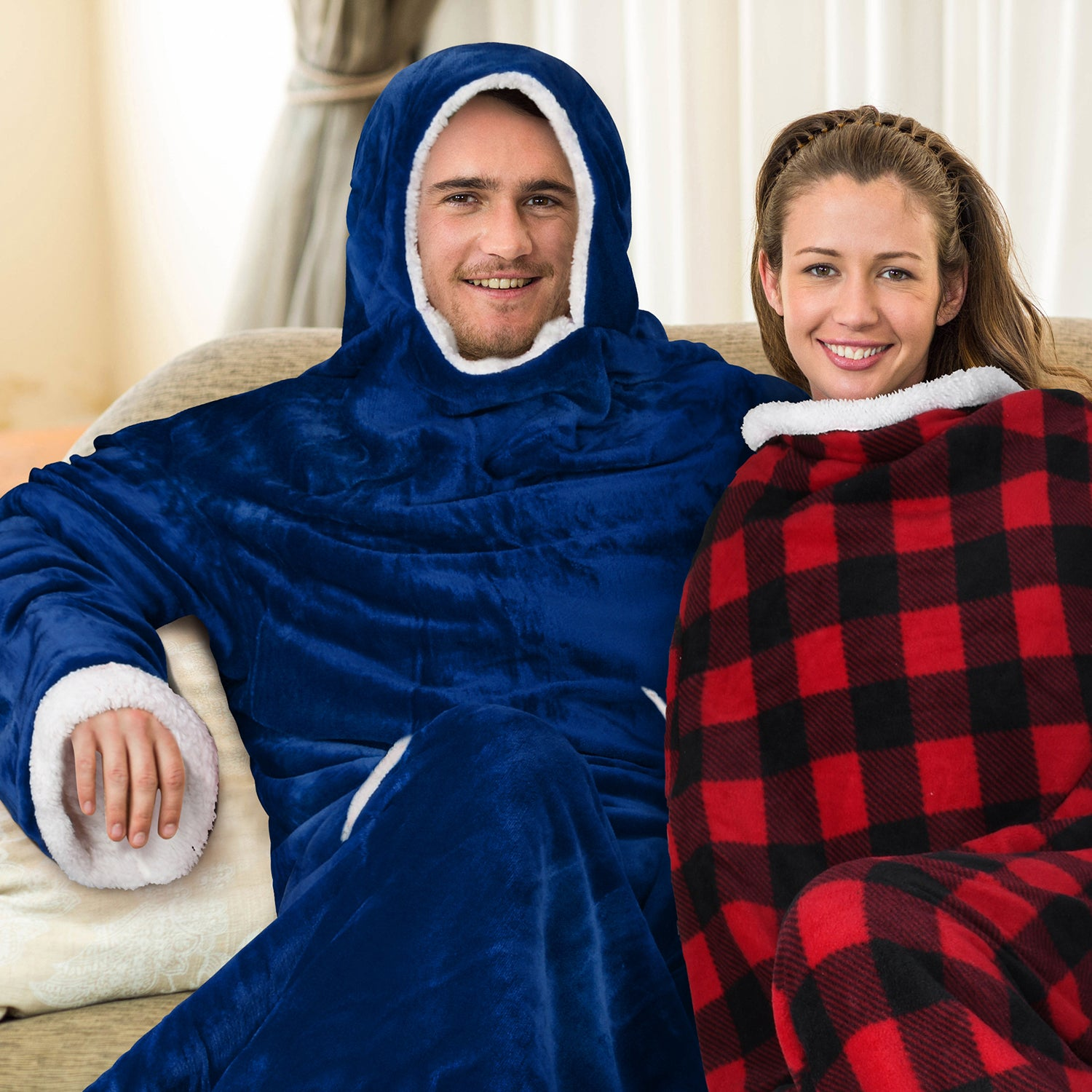 Sherpa Wearable Blanket for Adult