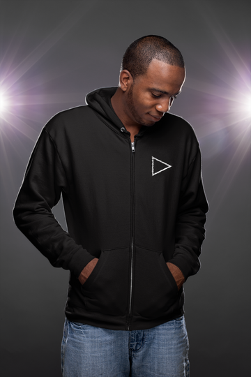 Play-Stop-Pause Zip Up Unisex Hoody