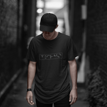 'Distorted Techno' Unisex Longer Line T-Shirt