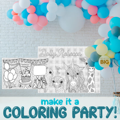 Make It A Coloring Party With Our Posters!