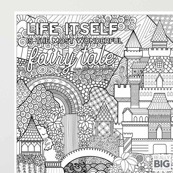 Fairy Tale Castle Coloring Poster