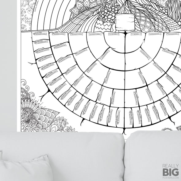 Family Tree Coloring Poster