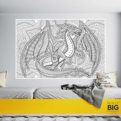 Dragon Coloring Poster (Giant)