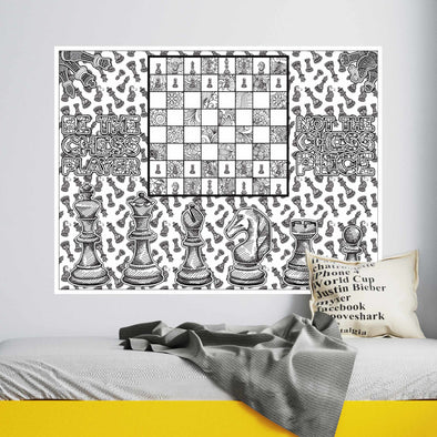 Chess Coloring Poster