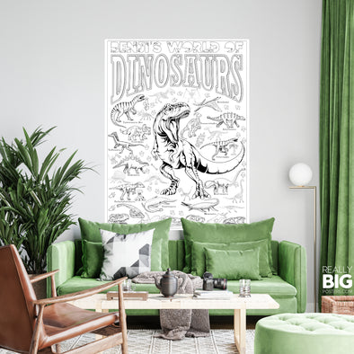 Dinosaur Coloring Poster