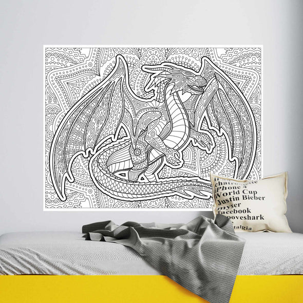 Dragon Coloring Poster (Wall)