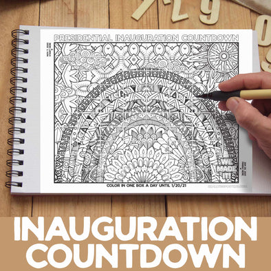 Presidential Inauguration Coloring Countdown **Instant Digital Download**