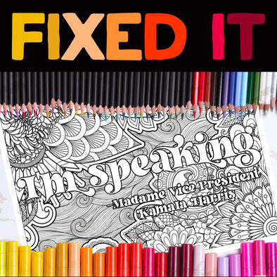 I'm Speaking Coloring Page **Instant Digital Download**