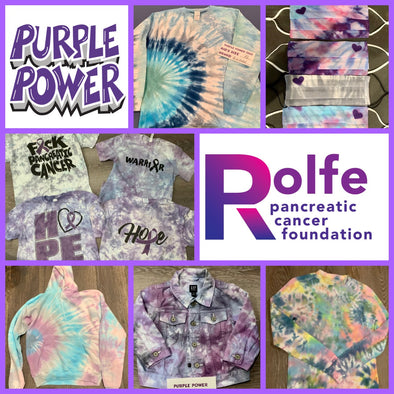 Tie Dyed T-shirts by Purple Powered Tees, Free Box Holiday Boutique Special