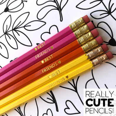 Set of Six Personalized #2 Pencils, Tutti Frutti