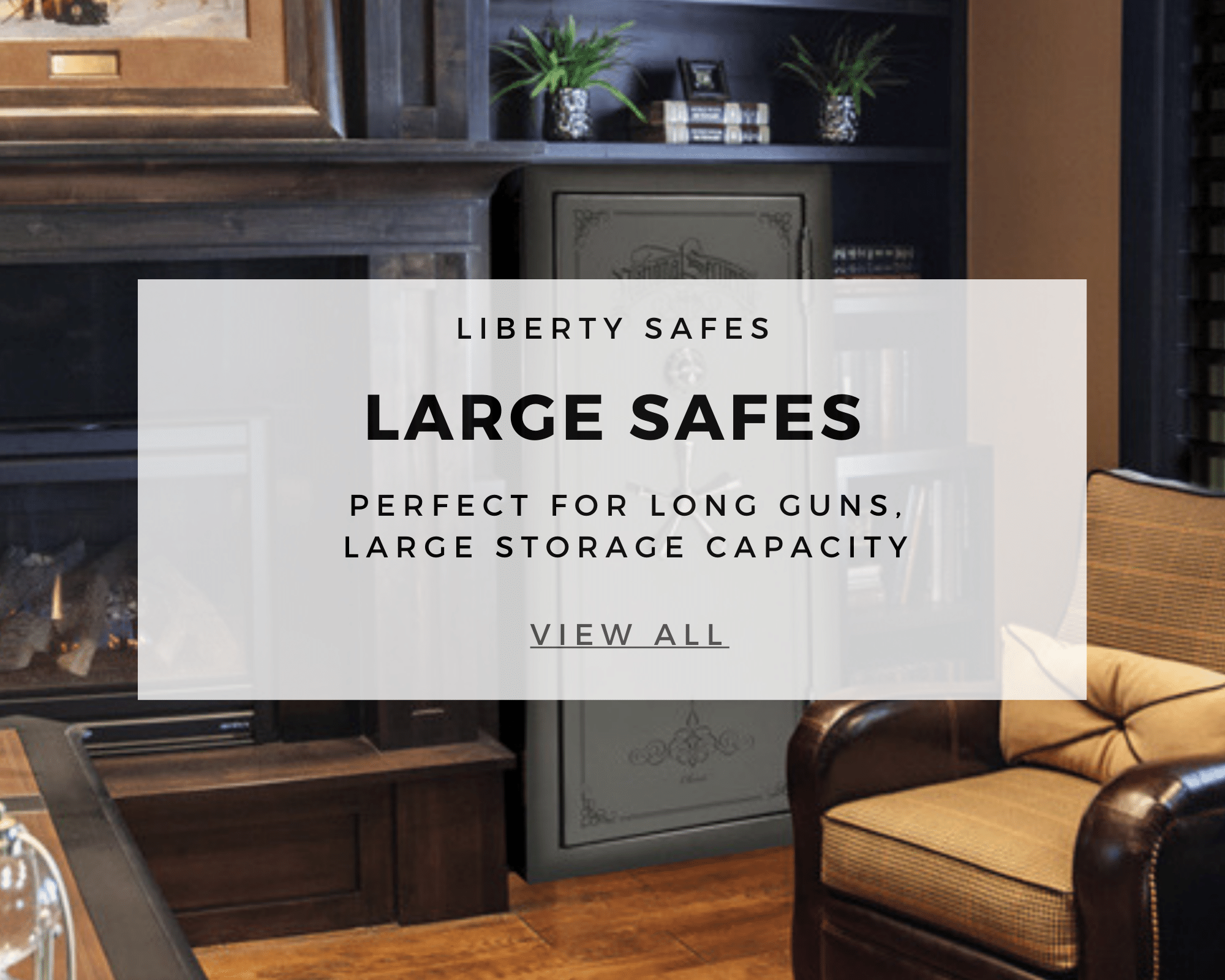 large safes text with picture in background of safe