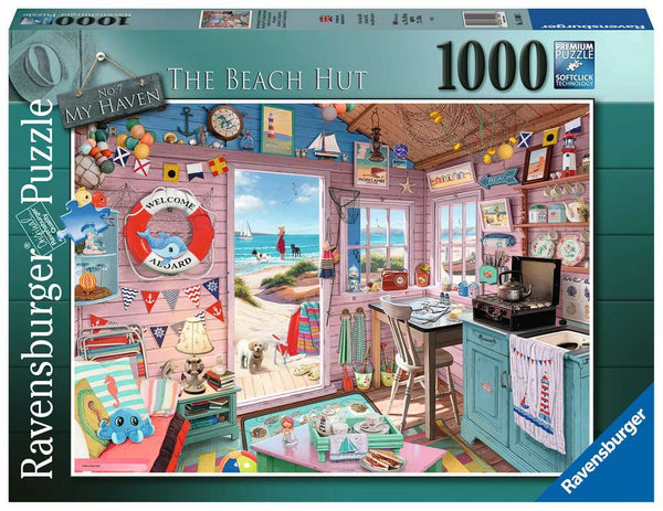 Ravensburger 15000 My Haven No 7, The Beach Hut 1000p Puzzle