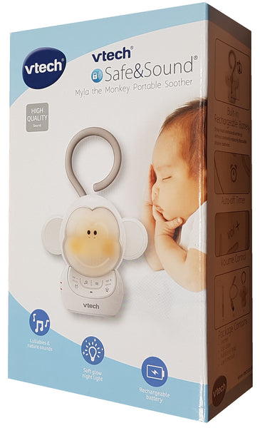 Vtech Kids Safe & Sound Myla The Monkey Portable Soother