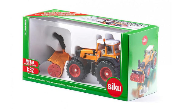 SIKU    3660    FENDT TRACTOR WITH SNOW CUTTER BLOWER