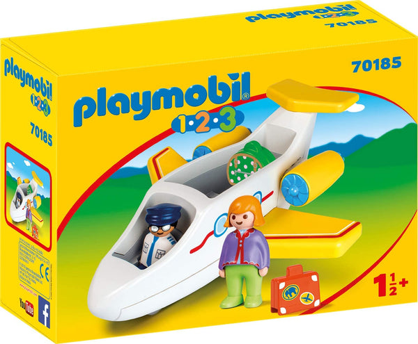 Playmobil    70185    1.2.3 Airplane with Passenger