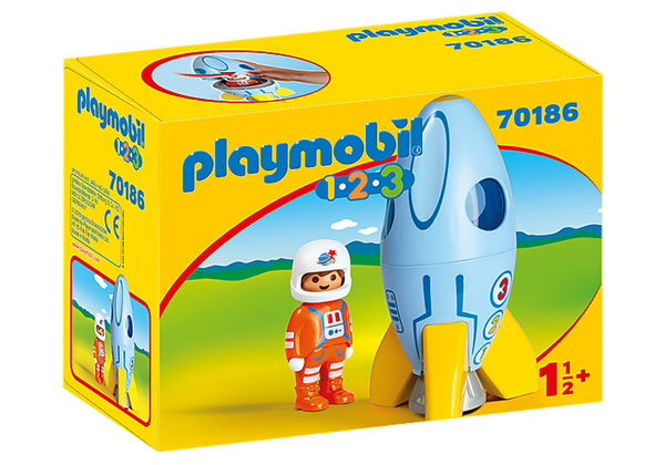 Playmobil    70186    1.2.3 Astronaut with Rocket