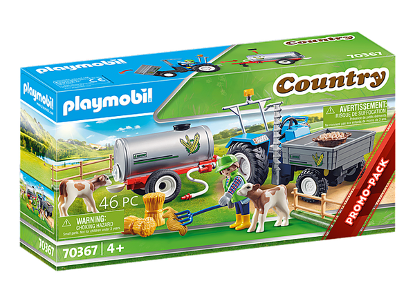Playmobil 70367 Country Promo Loading Tractor with Water Tank