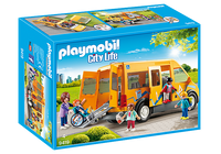 Playmobil 9419 City Life School Van with Folding Ramp