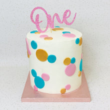 Load image into Gallery viewer, Pastel Polka Dot Cake