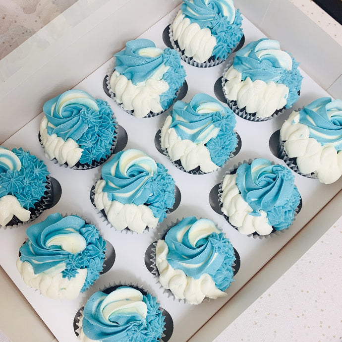 12 Colour Swirl Cupcakes (Various Colours)