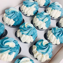 Load image into Gallery viewer, 12 Colour Swirl Cupcakes (Various Colours)