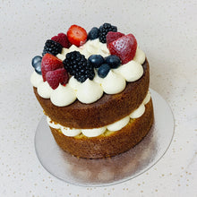 Load image into Gallery viewer, Mini Naked Fruit Topped Cake