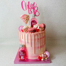 Load image into Gallery viewer, Pink Gin Cake With Macarons