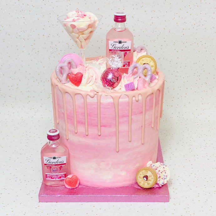 Pink Alcohol Cake (Various Options)