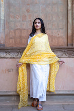 Load image into Gallery viewer, Yellow Heavy Chikankari Gotapatti Dupatta
