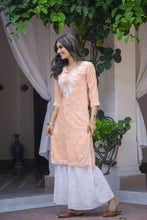 Load image into Gallery viewer, Chasing Summer Peach 3 Piece Kurta Set