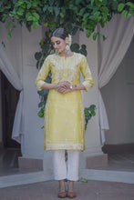 Load image into Gallery viewer, Yellow Evening Skies 3 piece Kurta Set