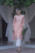Load image into Gallery viewer, Peach Evening Skies 3 piece Kurta set