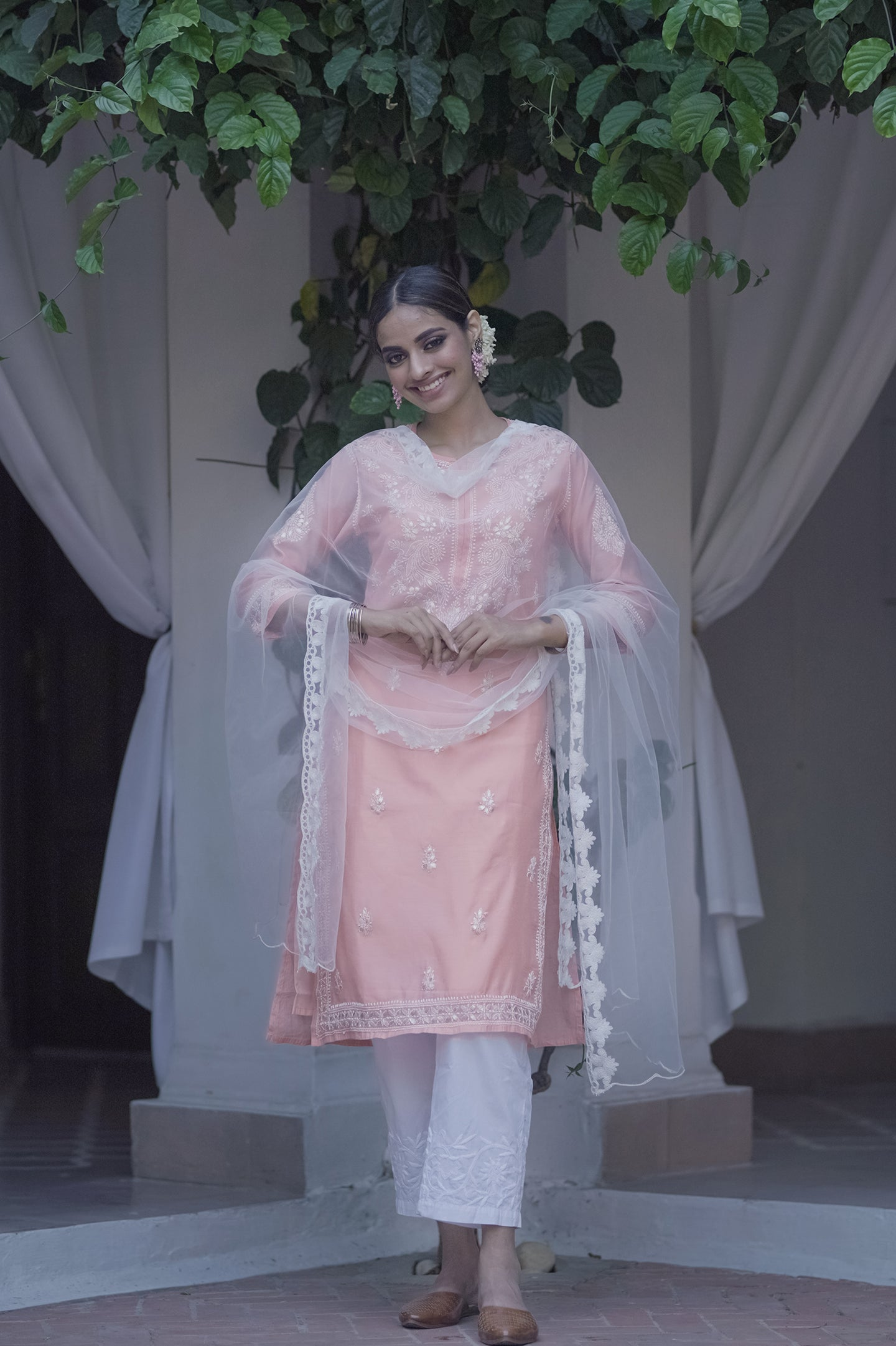 Peach Evening Skies 3 piece Kurta set