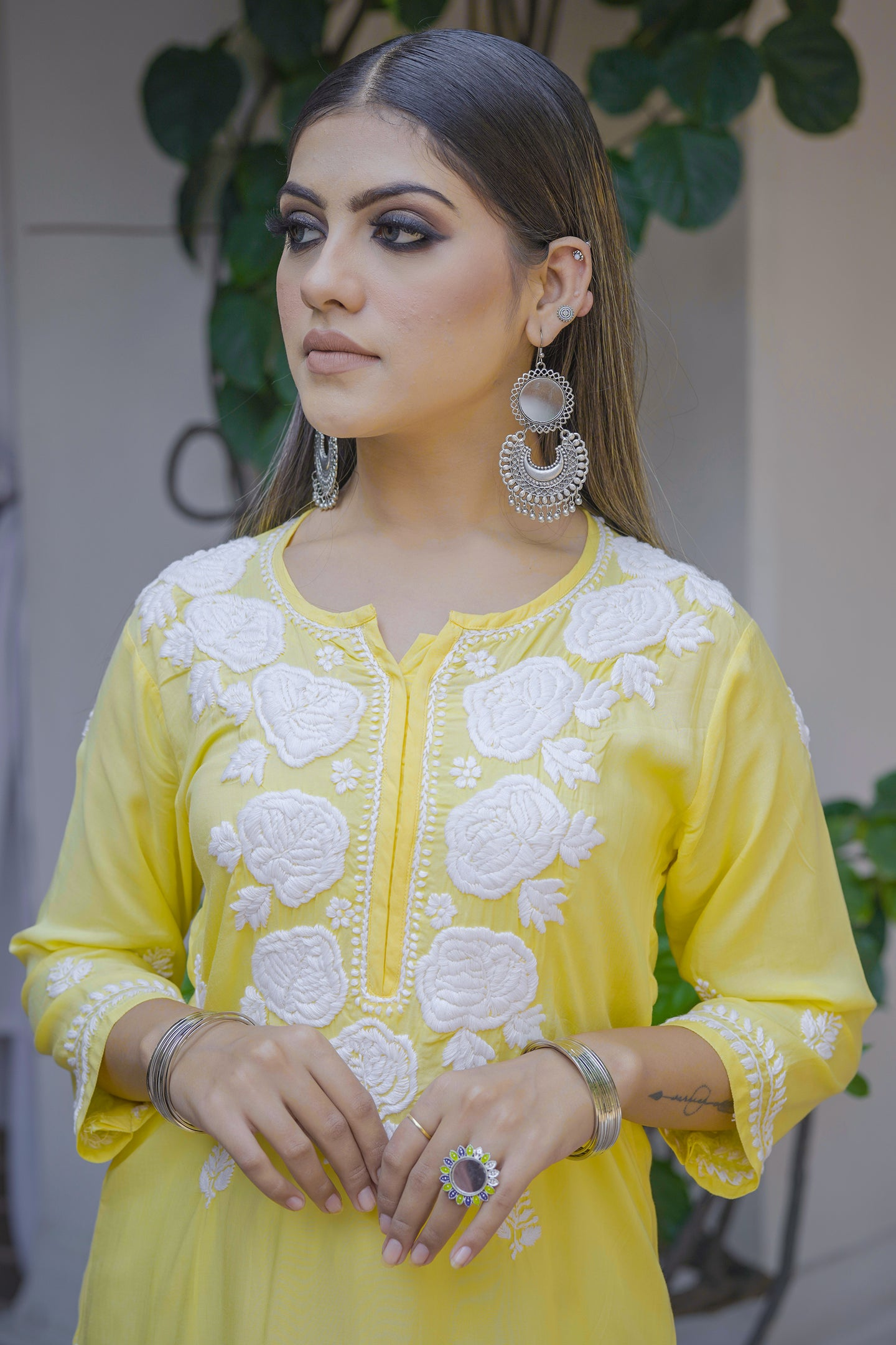 Chasing Summer Kurta - Yellow